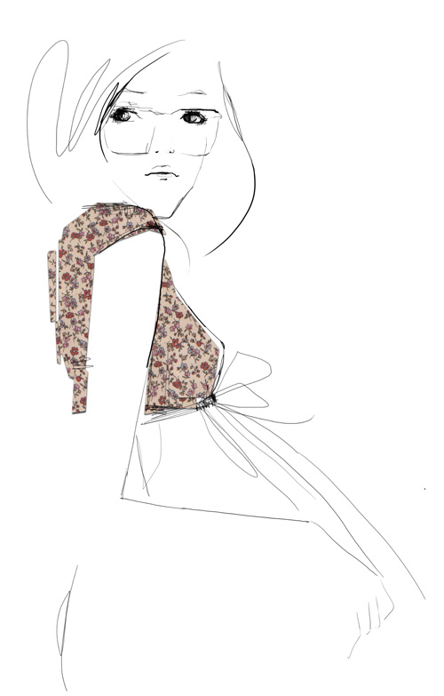 Simple Fashion Dress Drawing